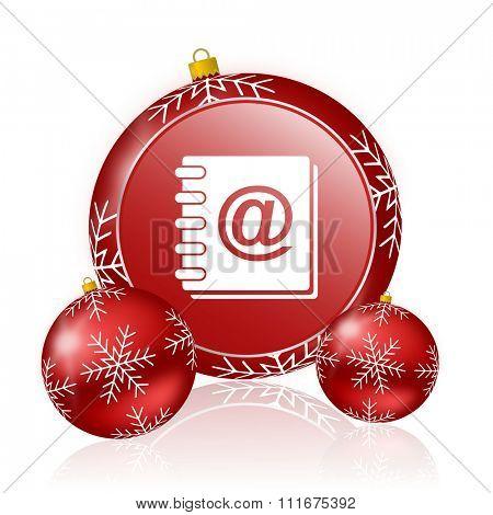 address book christmas icon