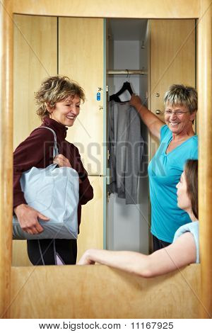 Woman In Changing Room