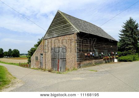 A Small Barn In The Biesbosch National Park, Holland