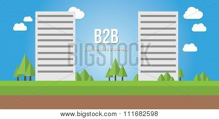 business to busines b2b concept corporate building