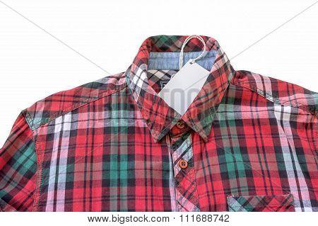 Red Plaid Shirt On White