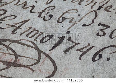 Handwriting eighteenth century