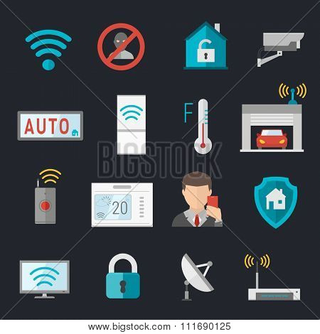 Remote home control system Smart House vector illustration. Smart House remote control. Smart House icons set. Smart House vector icons abstract technology vector. Smart House illustration icons