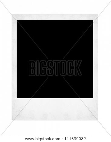 polaroid photo isolated on the white backgrounds