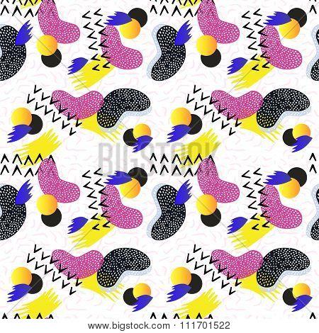 Seamless geometric pattern in retro style.