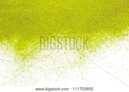 Background Of Green Powder Surface