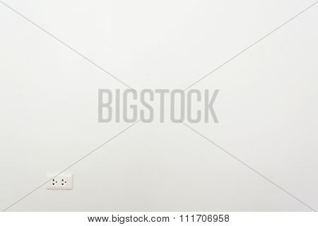 White Mortar Wall Background