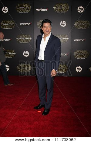 LOS ANGELES - DEC 14:  Maria Lopez at the Star Wars: The Force Awakens World Premiere at the Hollywood & Highland on December 14, 2015 in Los Angeles, CA