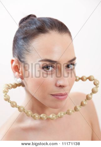 Portrait With A Beads