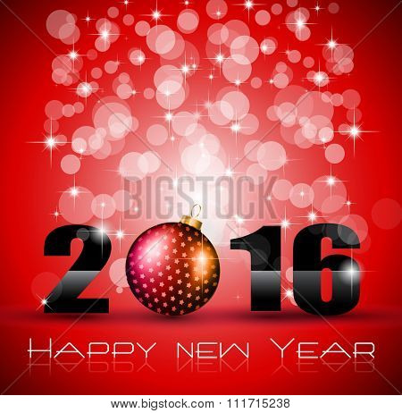 2016 Happy New Year Background for Seasonal Greetings Cards, Christmas Parties Flyer, Dinner Event Invitations, Xmas Cards and sp on.