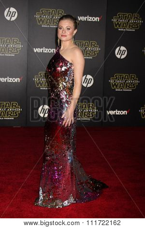 LOS ANGELES - DEC 14:  Bonnie Plesse at the Star Wars: The Force Awakens World Premiere at the Hollywood & Highland on December 14, 2015 in Los Angeles, CA