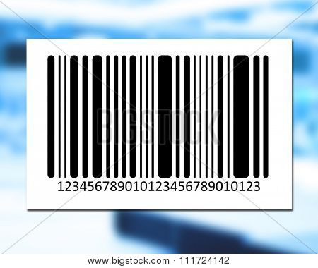 bar code on color background. Vector image