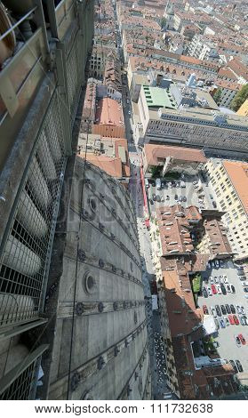 Turin From The Highest Building In The City Called Mole Antonelliana