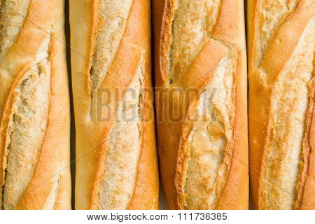 the detail of french baguettes