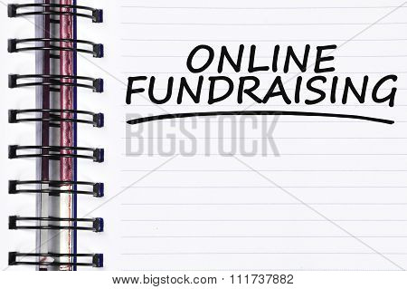 Online Fundraising Words On Spring Note Book