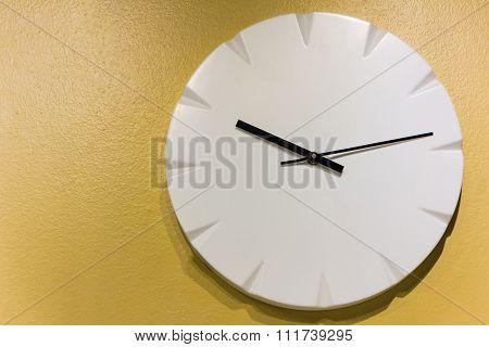 Clock On Yellow Wall