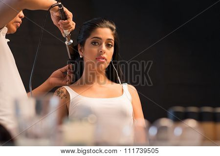 In hairdressing salon