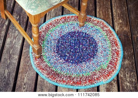 Handmade Knitted Colorful Rug