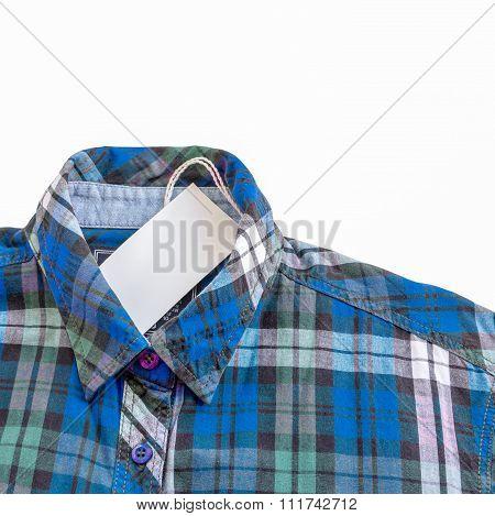 Blue Zinc Texture Plaid Shirt On White