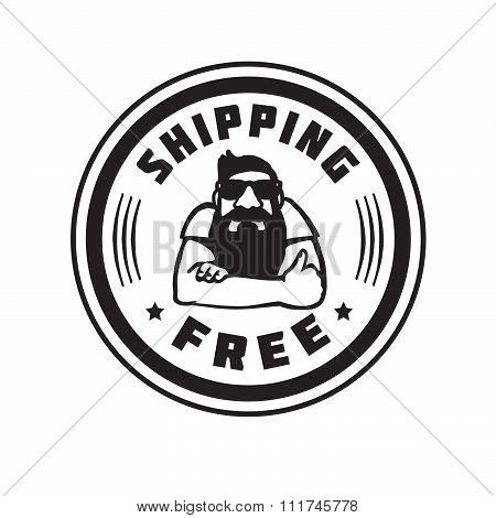 Shipping Free Delivery Free Vector Stamp