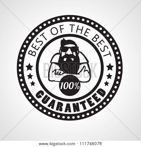 Best of the best, Satisfaction guaranteed sticker
