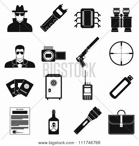 Spy simple icons