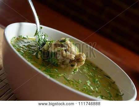 Hot chicken soup