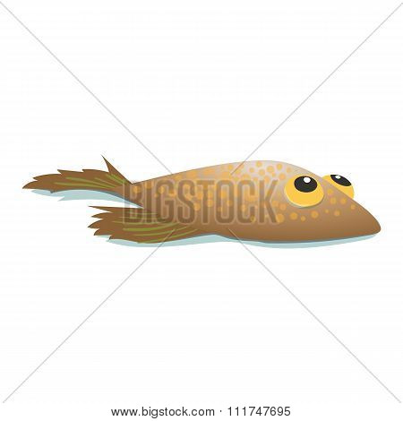 Flounder comic cartoon icon