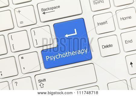 White Conceptual Keyboard - Psychotherapy (blue Key)