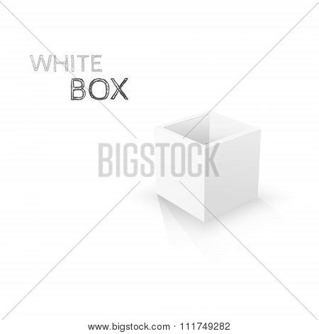 White Box isolated on white background. Vector