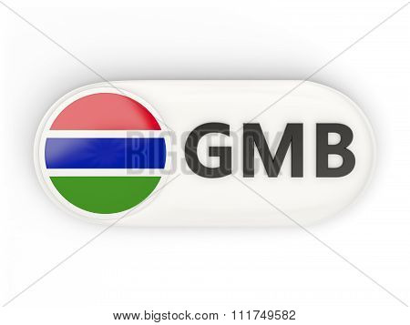 Round Icon With Flag Of Gambia