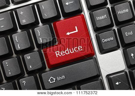 Conceptual Keyboard - Reduce (red Key)