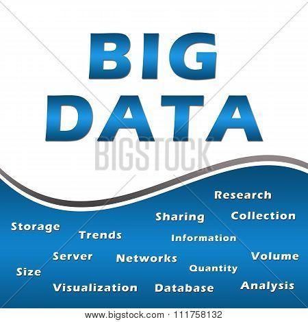 Big Data Keywords Blue Square
