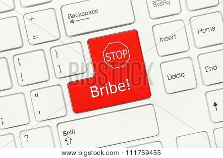 White Conceptual Keyboard - Bribe (red Key)