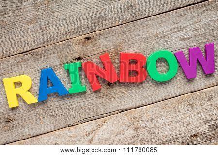 Rainbow - Letter R
