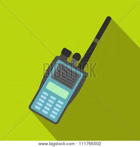 Military radio flat icon