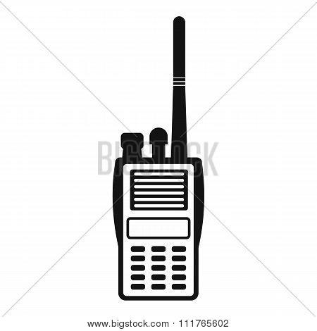 Military radio simple icon