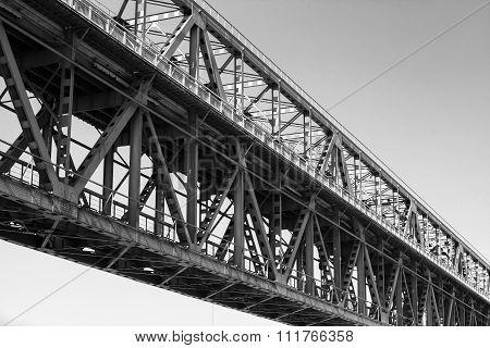 Truss Bridge Construction Fragment, Two Levels