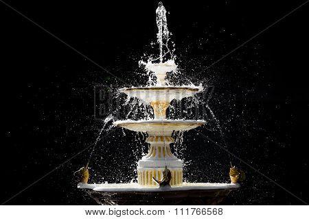 Isolated Splash Fountain