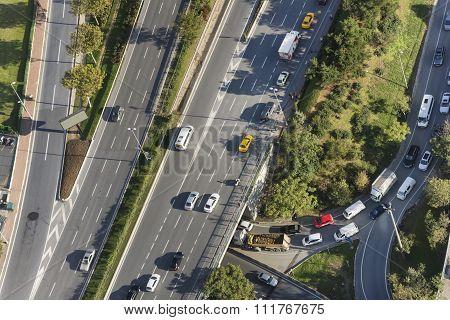 Traffic At Istanbul, Turkey