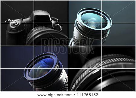 Digital cameras collage