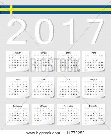 Swedish 2017 Calendar