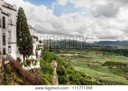 View of the El Tajo in Ronda Spain