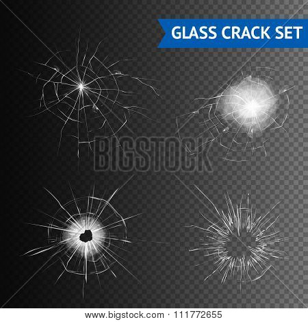 Glass Crack Images Set