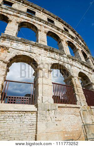 Ancient Amphitheater In Pula Croatia