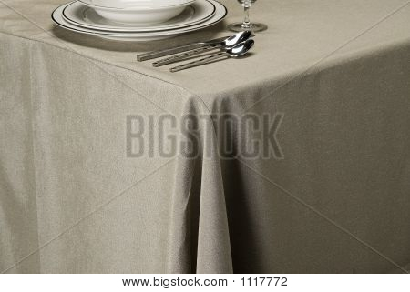 Silver Linen Table Cloth