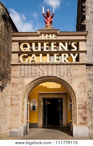 Entrance To Queen's Gallery Edinburgh