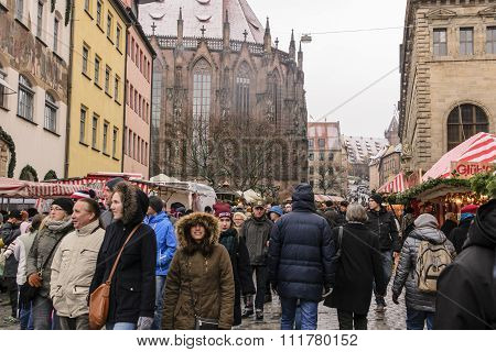 Nuermberg Christmas Market Crowd