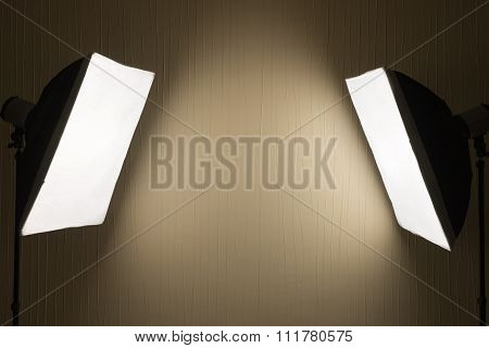 Photographic LIghting - Two Studio Lights with Soft Boxes