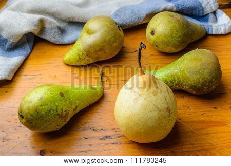 Fresh Pears On The Table